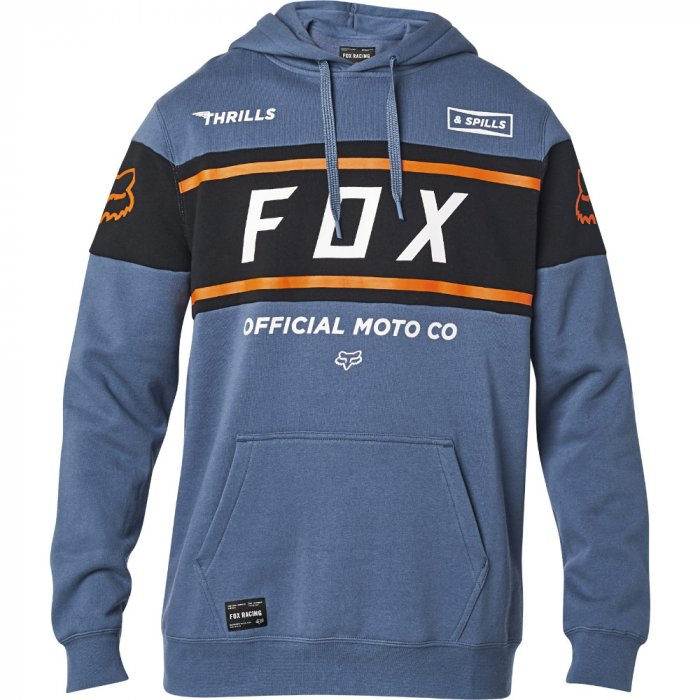 detail Pánská mikina Fox Official Pullover Fleece Blue Steel Blue Steel