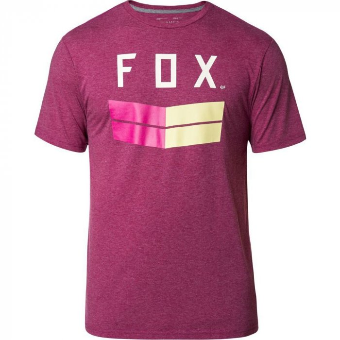detail Pánské triko FOX Frontier Ss Tech Tee Heather Purple