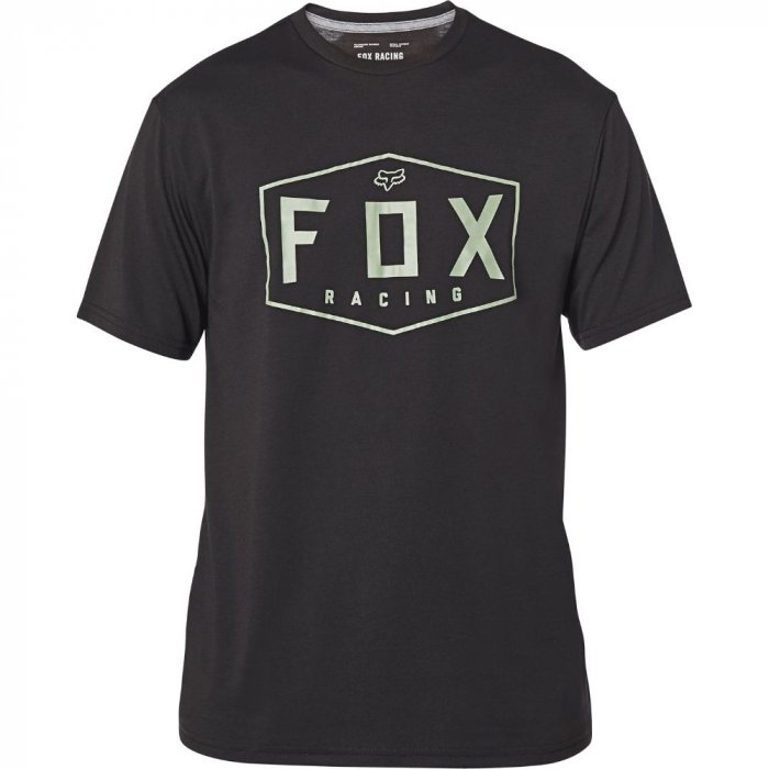 detail Pánské triko Fox Crest Ss Tech Tee Black/Green